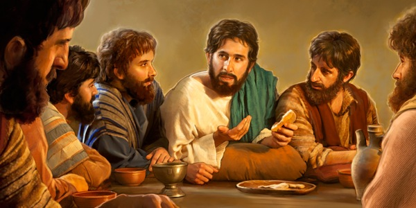 Jesus changes the yearly Passover celebration to the yearly Lord's Evening Meal. Picture courtesy of jw.org,  Online Library, The Watchtower, December 15, 2013 edition.